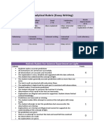 holistic and analytical rubric sample.docx