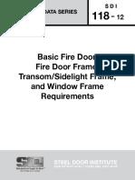 SDI 118-2012 Basic Fire Door, Fire Door Frame, TransomSidelight