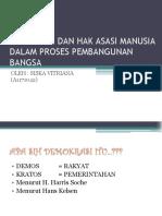 Demokrasi Dan Hak Asasi Manusia Dalam Proses Pembangunan
