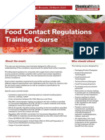 Food Contact Regulations Training20 March 2019