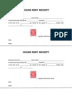 House Rental Receipt
