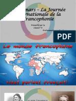Le 20 Mars La Journée Internationale De La Francophonie