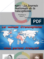 Le 20 Mars La Journée Internationale De La Francophonie