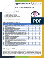 Quidos Technical Bulletin - 20th March 2019