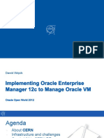 Implementing Oracle Enterprise Manager 12c to Manage Oracle VM