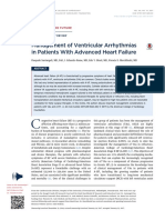 Management of Ventricular Arrhytmias in Patients With Advanced Heart Failure
