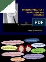 Materi Prolanis Januari 2019 Kenali Cegah Kendalikan Diabetes
