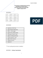 SPM Percubaan 2007 SBP English Language Paper 2 Marking Scheme