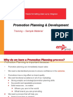 Promotions Planning and Development Course Sample Materials v1 Ssd 101310