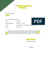 Surat Permohonan Rekomendasi Ppds