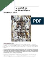 Conferencia Materialismo Historico (2017) Valor, Clases & Capital