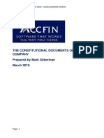 Constitutional Documents of a Company