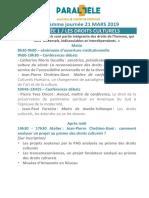Programme P5 du 21 mars