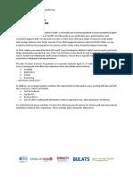 Social Activity Leader Job Application - 2019