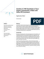 Sensitive LC-MS Quantitation of Trace Organic Contaminants in Water With Online SPE Enrichment