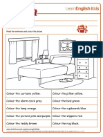 Colouring Pages Bedroom
