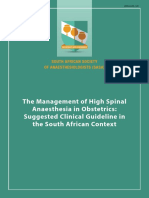 Management of High Spinal Anesthesia