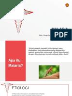 PPT referat malaria falciparum oleh Gorga Yudha Sidabutar n111 18 004 Universitas Tadulako