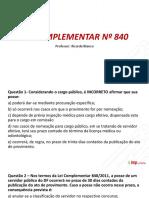 Revisão Imperdível SEDEST - Lei Complementar Nº 840 (IMP Online)