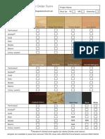 SUPAWOOD Sample Order Form