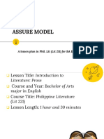 Lesson Plan Assure Model