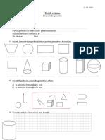 Test de Evaluareelemente de Geometrie Cl. 3