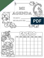 agenda personalizada para niños 2.0 blancoynegro