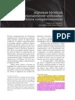 ALGUMAS TÉCNICAS TRADICIONALMENTE UTILIZADAS NA CLINICA COMPORTAMENTAL