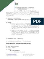 ESPECIFICACIONES TÉCNICAS ARCOTECHO