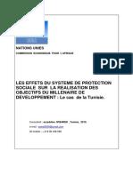 La Protection Sociale Et Les Omd en Tunisie Ezzeddine Mbarek 2010