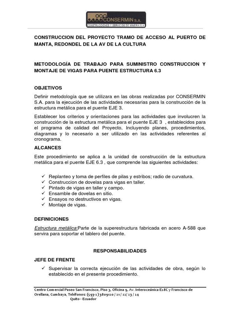 Metodologías Proyecto Acceso Manta 2 1 Docx Soldadura