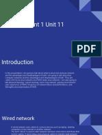 assignment 1 unit 11