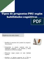 Tipos de preguntas PSU según habilidades cognitivas.ppt