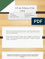 Ley 115 de 1994 ministerio de educación