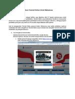 Panduan Tutorial Online Untuk Mahasiswa