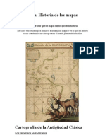 trabajo Cartografía mapas antiguos