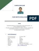Curriculo Vitae Yahir Zavala R.