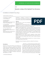 Development and Psychometric Testing of the Spiritual Care Inventory