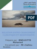 CHANGEMENTclimatiqe Et Biodiversit1e