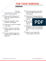 How to prepare for a Webinar