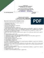 Tematica Licenta 2018 MEDICINA