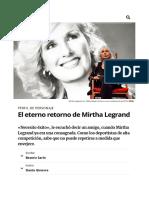 El Eterno Retorno de Mirtha Legra