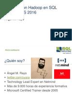 52503 Big Data Con Hadoop y SSIS 2016 - Angel Rayo