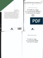Vinagre Laranjeira, M. El Cambio de Código en La Conversación Bilingüe. La Alternancia de Lenguas