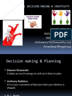 Rational Decision Making & Creativity