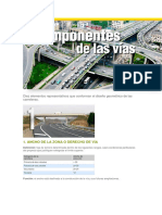 Diez Elementos Representativos Que Conforman El Diseño Geométrico de Las Carreteras