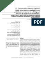 Control Del Pensamiento, Esfuerzo Cognitivo y Lenguaje Fisionimico-Organismico