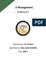Tax Management.docx