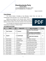 BJP 1st List Lok Sabha Election 2019