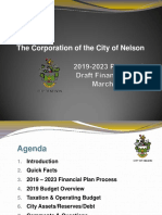 City of Nelson 2019 Financial Plan Presentation